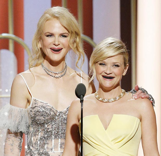Nicole Kidman and Reese Witherspoon Without Teeth