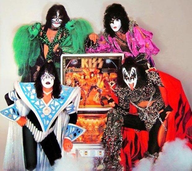 Classic vintage Kiss pinball machine 1970s