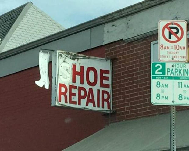 Where to go when hookers break ~ Funny Stupid Signs ~ hoe repair