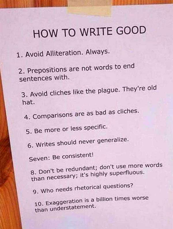 How to write good instructions ~ funny pics memes list