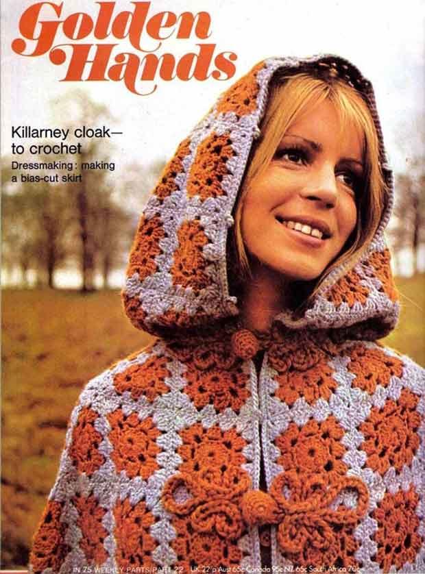 Golden Hands vintage crochet magazine cover 1970s funny pics memes