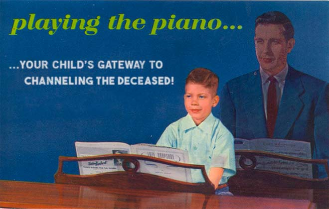 Playing the piano... Vintage ad postcard ~.~ funny pics, funny memes