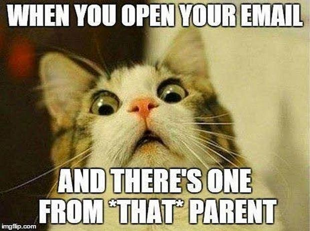 47 of the Best Great Teacher Memes  ~ email from that parent