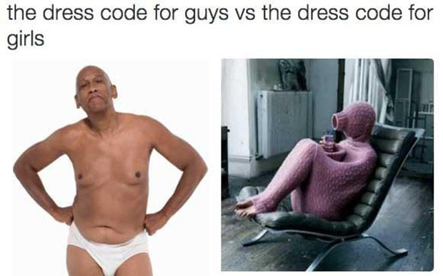 37 Things Only Women Get ~ dress code for men and women