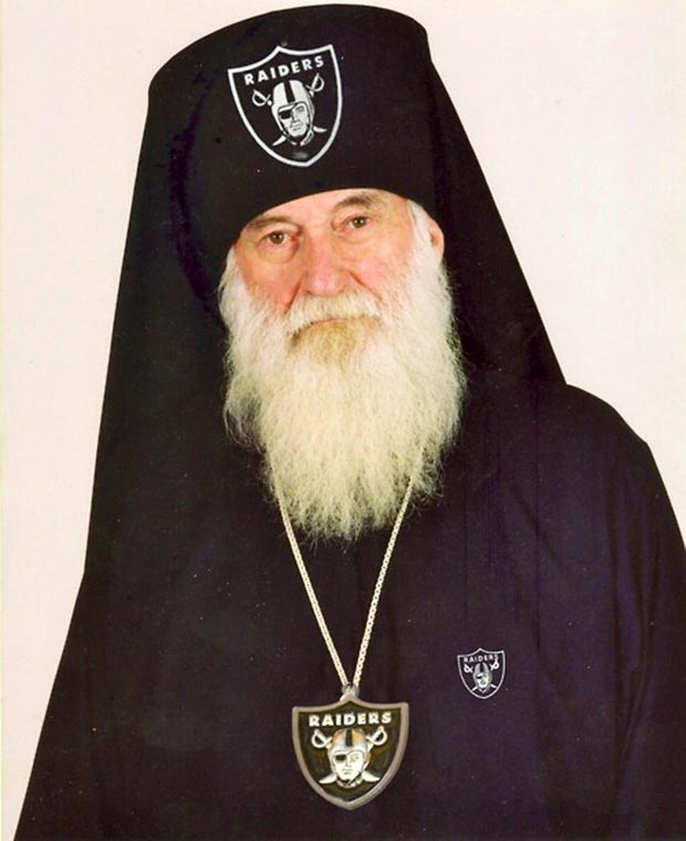33 Funny Pics and Memes of the Day ~ Ultimate Oakland raider fan priest robe nil football