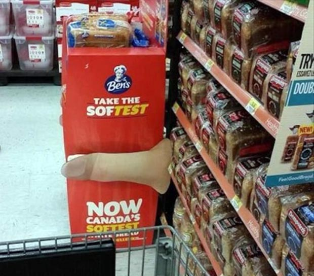 Funny signs, grocery story ~ Ben's ~ take the soft test ~ 33 Funny Pics and Memes best