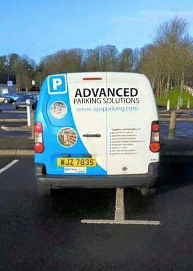 Random Humor : 35 Funny Pics and Memes ~ advanced parking solutions fail
