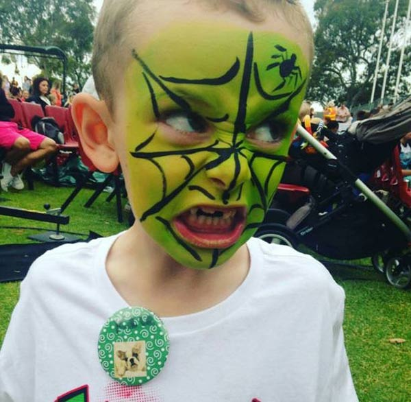 35 Funny Pics Ya Gotta See ~ cute kid halloween costume painted face