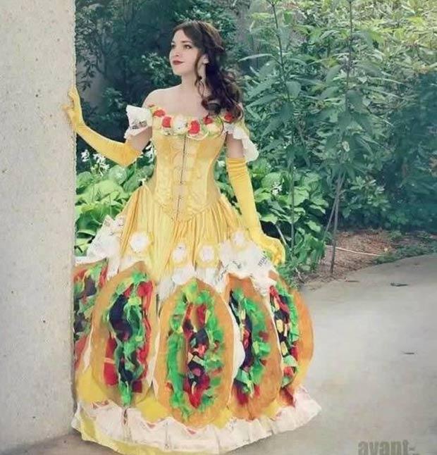 35 Funny Pics Ya Gotta See ~ fashion fail taco dress princess