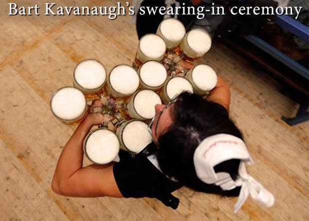 Random Humor : 35 Funny Pics and Memes ~ Bret Kavanaugh's swearing in ceremony I like beer
