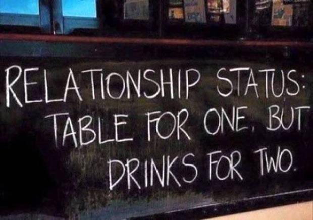 35 Funny Pics and Memes Ya Gotta See ~ sidewalk chalkboard signs relationship status