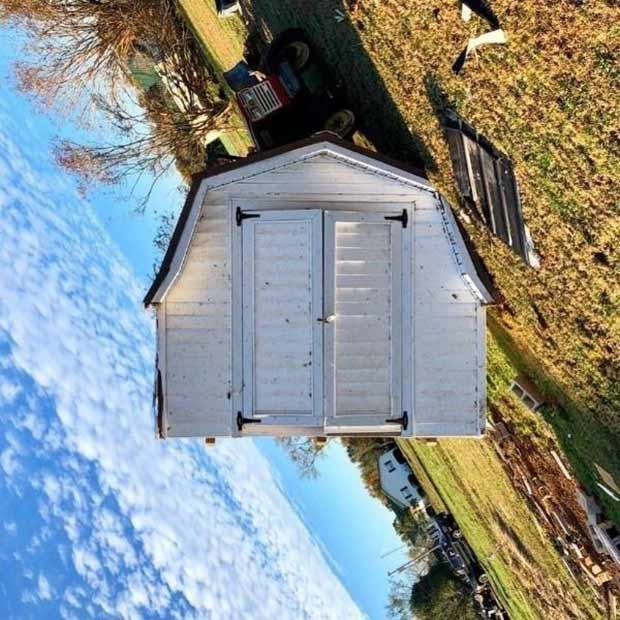 35 Funny Memes and Pics of Humor Galore ~ optical illusion tipped over shed