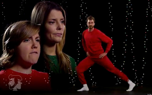 31 Awkwardly Funny Family Christmas Photos~ weird silhouette sister brother dancing