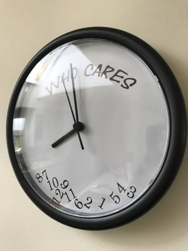 35 Funny Memes and Pics of Humor Galore ~ Who cares wall clock, best gifts