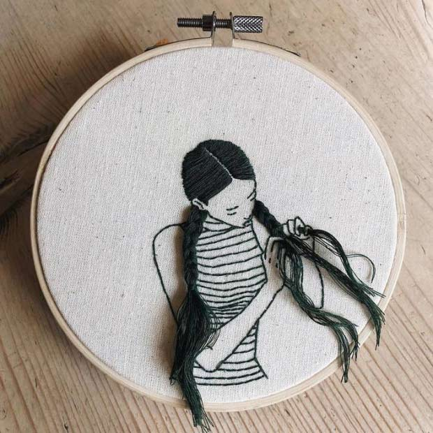35 Funny Memes and Pics of Humor Galore ~ best needle point girl braiding hair