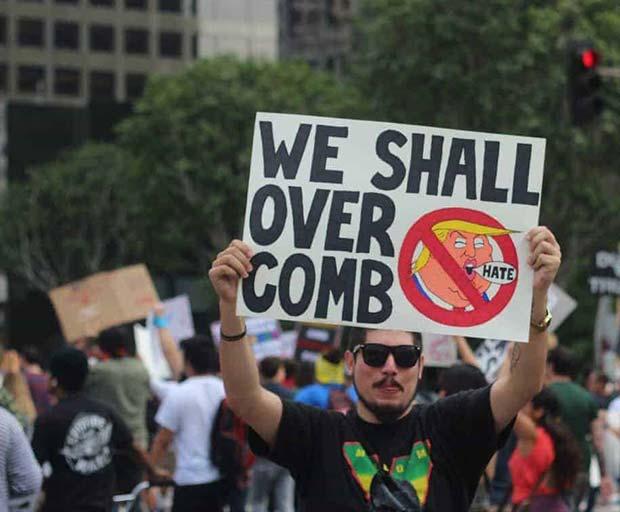45 Funniest Anti-Trump Protest Signs
