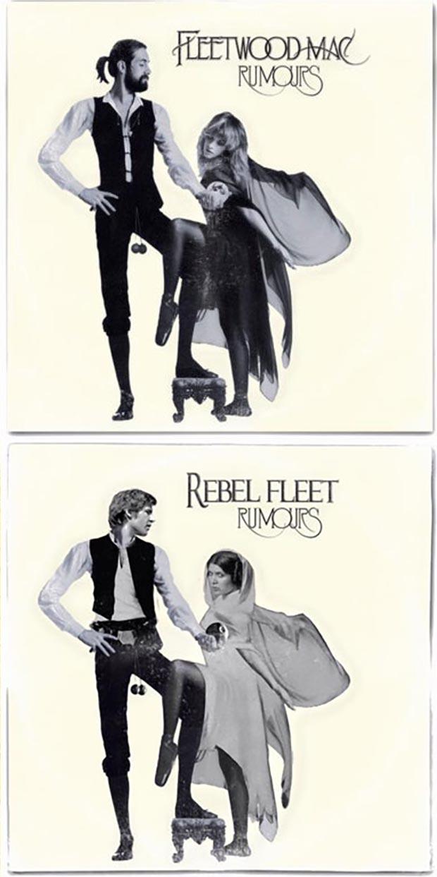 28 Star Wars ~ Classic Album Covers Mash-ups That ROCK! ~ Fleetwood Mac Rumors