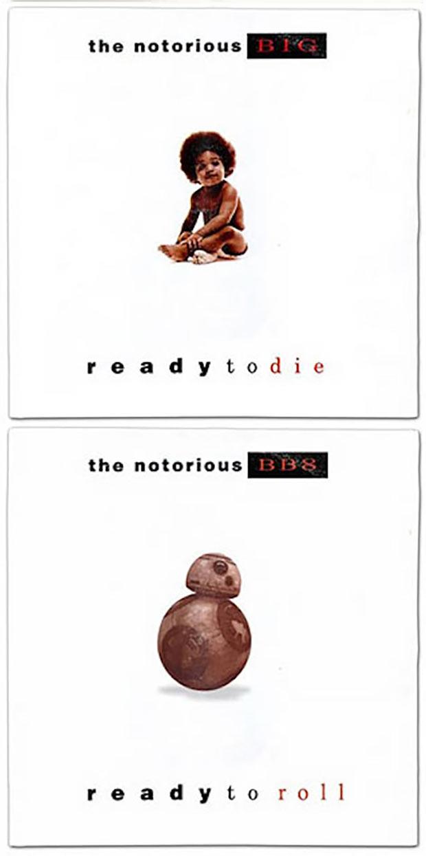 28 Star Wars ~ Classic Album Covers Mash-ups That ROCK! ~ Notorious B.I.G B.B.8