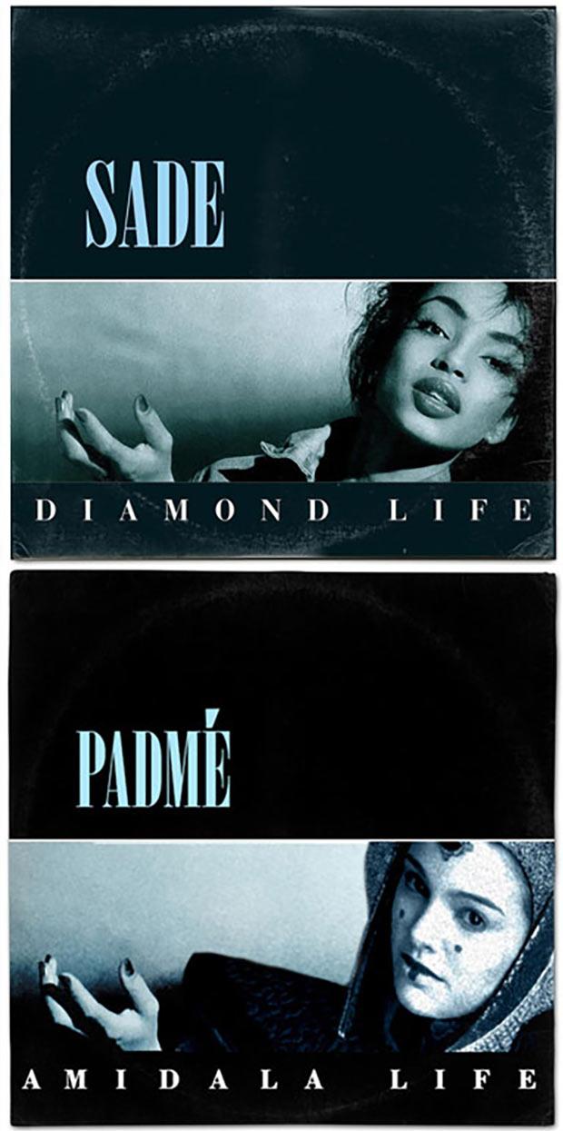 28 Star Wars ~ Classic Album Covers Mash-ups That ROCK! ~ Sade Diamond Life Padme Amidala Life