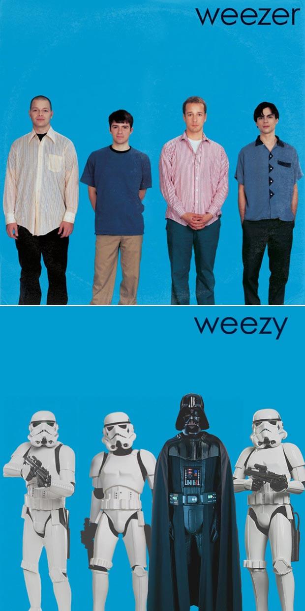 28 Star Wars ~ Classic Album Covers Mash-ups That ROCK! ~ Weezer Weezy