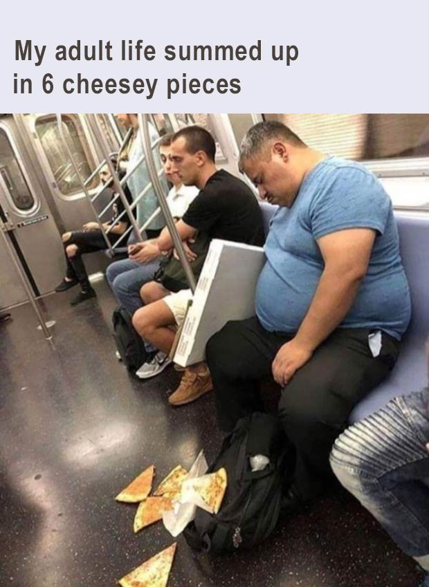 34 Funny Memes and Random Pics with Humous Convictions ~ work adult life public transportation
