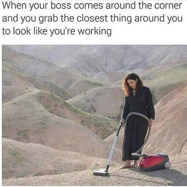 35 Funniest Memes and Random Pics to Fuel Your Humor ~ when your boss comes around work humor