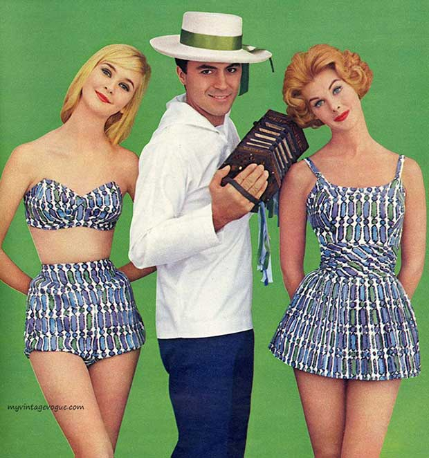34 Funny Memes and Random Pics with Humous Convictions ~ vintage 1950-60s fashions swimsuits