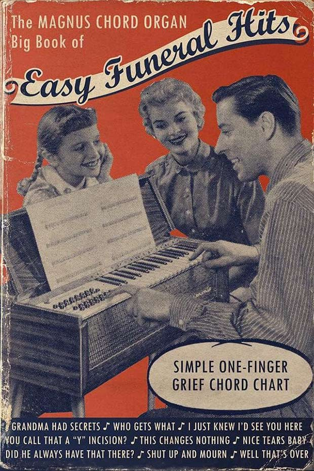 31 Best Memes and Funny Pics That'll Wet Your Eyeballs ~ vintage ads, songbook, sheet music, easy funeral hits, organ parody sarcasm