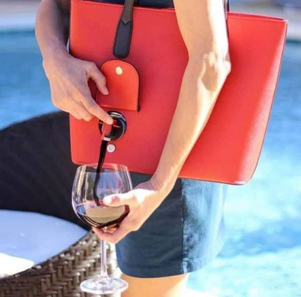 31 Funniest Memes and Pics Crazy Kooky and Comical ~ wine purse hidden tap