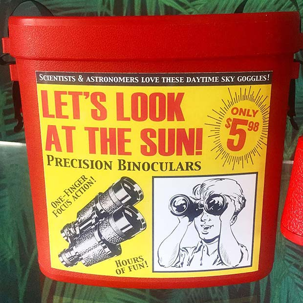 31 Hilarious Fake Toys Planted in Stores ~ look at the sun precision binoculars