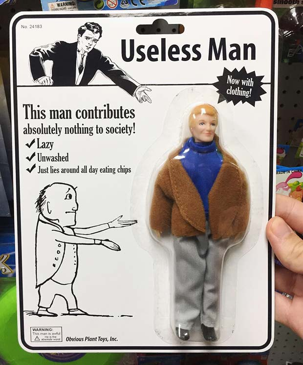31 Hilarious Fake Toys Planted in Stores ~ useless man