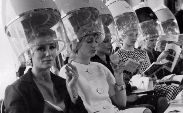 33 Funny Memes and Pics to Release Your Inner Humor ~ vintage snap woman hair dryers beauty salon getting hair done 1970s 1960s