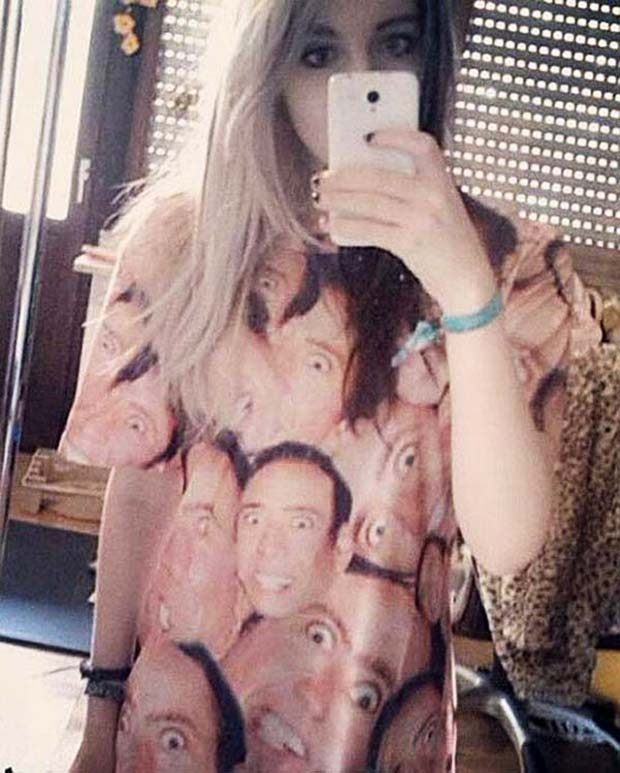 33 Funny Memes and Pics to Release Your Inner Humor ~ selfie in Nicolas Cage shirt