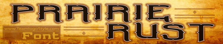 Western Font - Prairie Rust