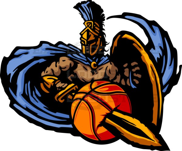 Trojan Basketball Graphic Vector Clipart Trojan