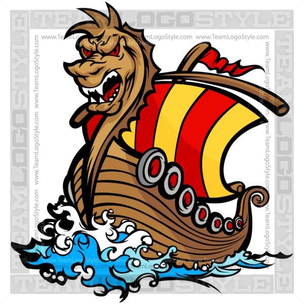 viking ship clipart - vector