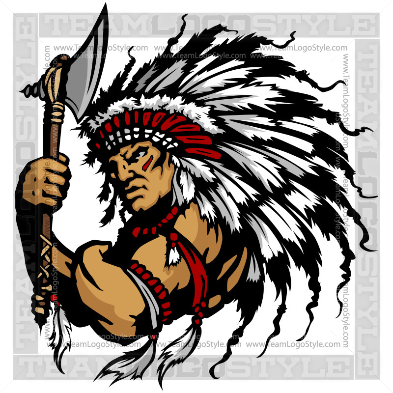 indian chief clip art vector clipart indian chief rh teamlogostyle com american indian chief clipart indian chief mascot clipart