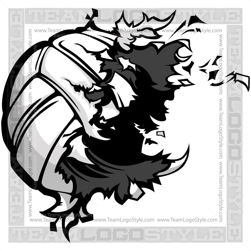 Volleyball Exploding Clip Art