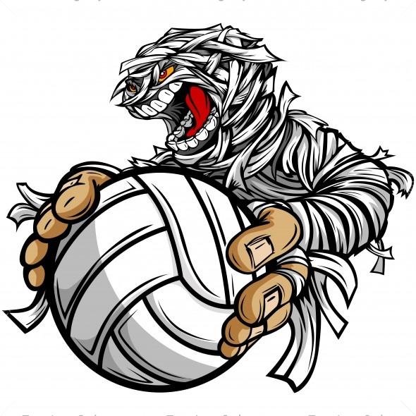 mummy volleyball clip art vector clipart halloween mummy rh teamlogostyle com volley ball image clipart