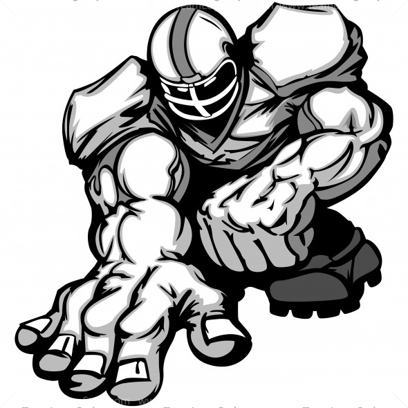 football player clip art vector clipart lineman rh teamlogostyle com boy playing football clipart black and white soccer player clipart black and white