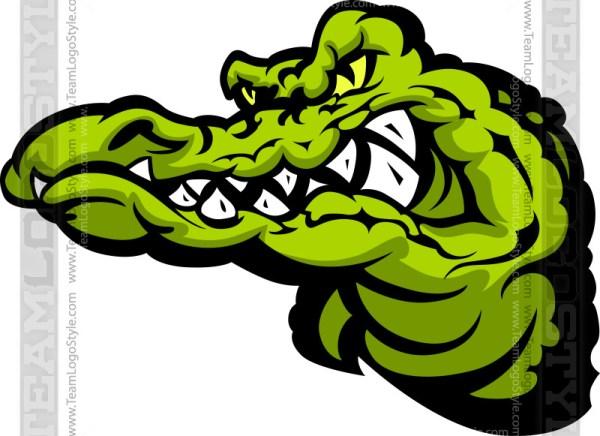 Gator Cartoon - Vector Clipart Alligator