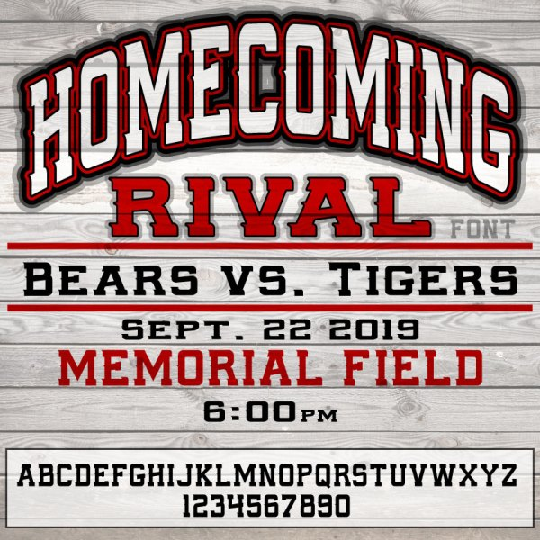 Athletic School Font - Homecoming Rival