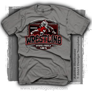 1d411ec9 State Wrestling Shirt Design – Vector Design Template