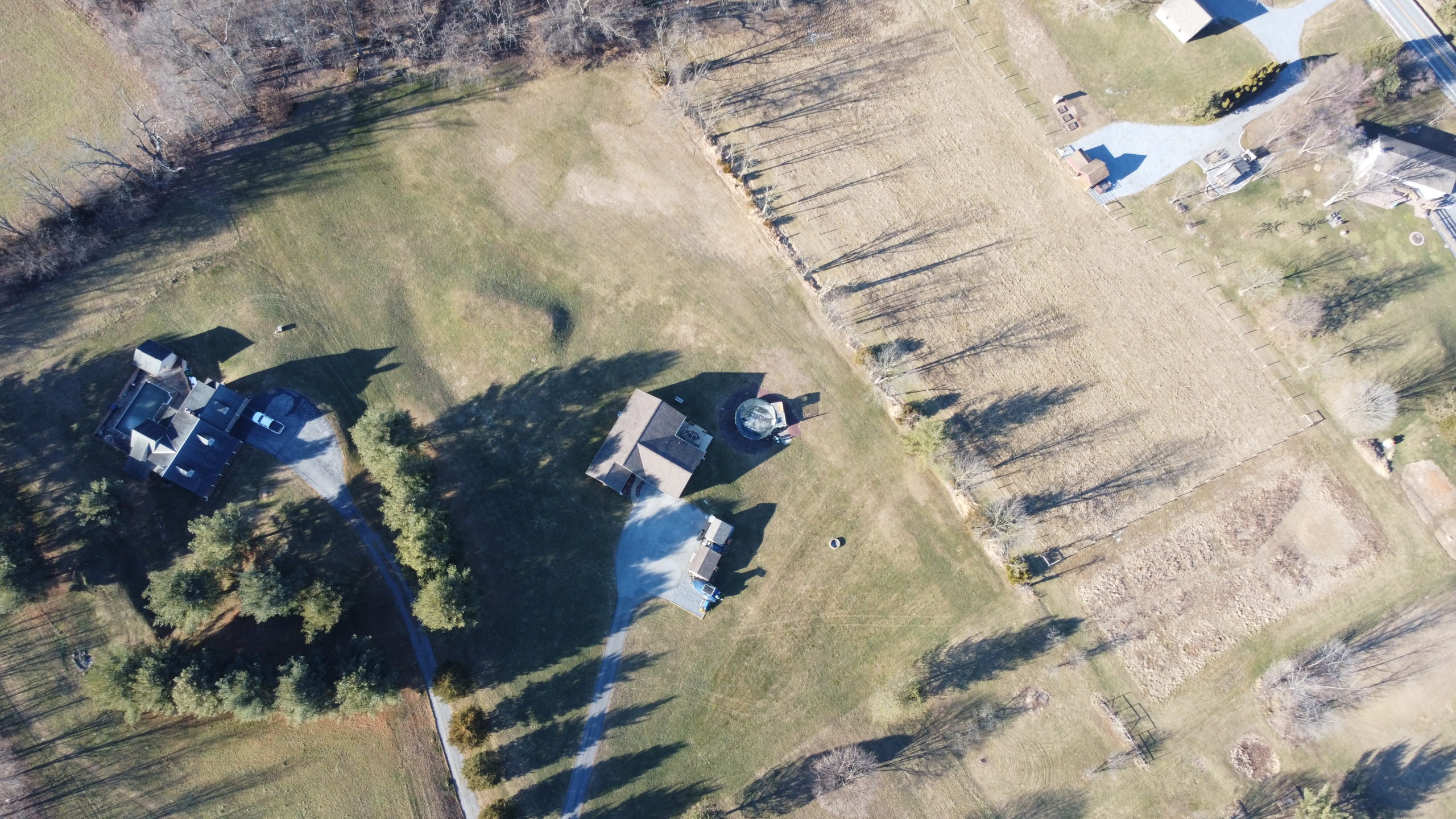 26 W. Strack Drive - Drone View of ELCO Home with Land