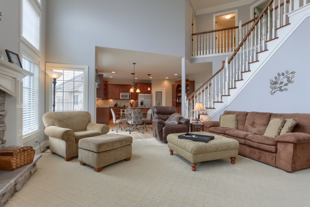 2000 mallard lane - living room opens to kitchen