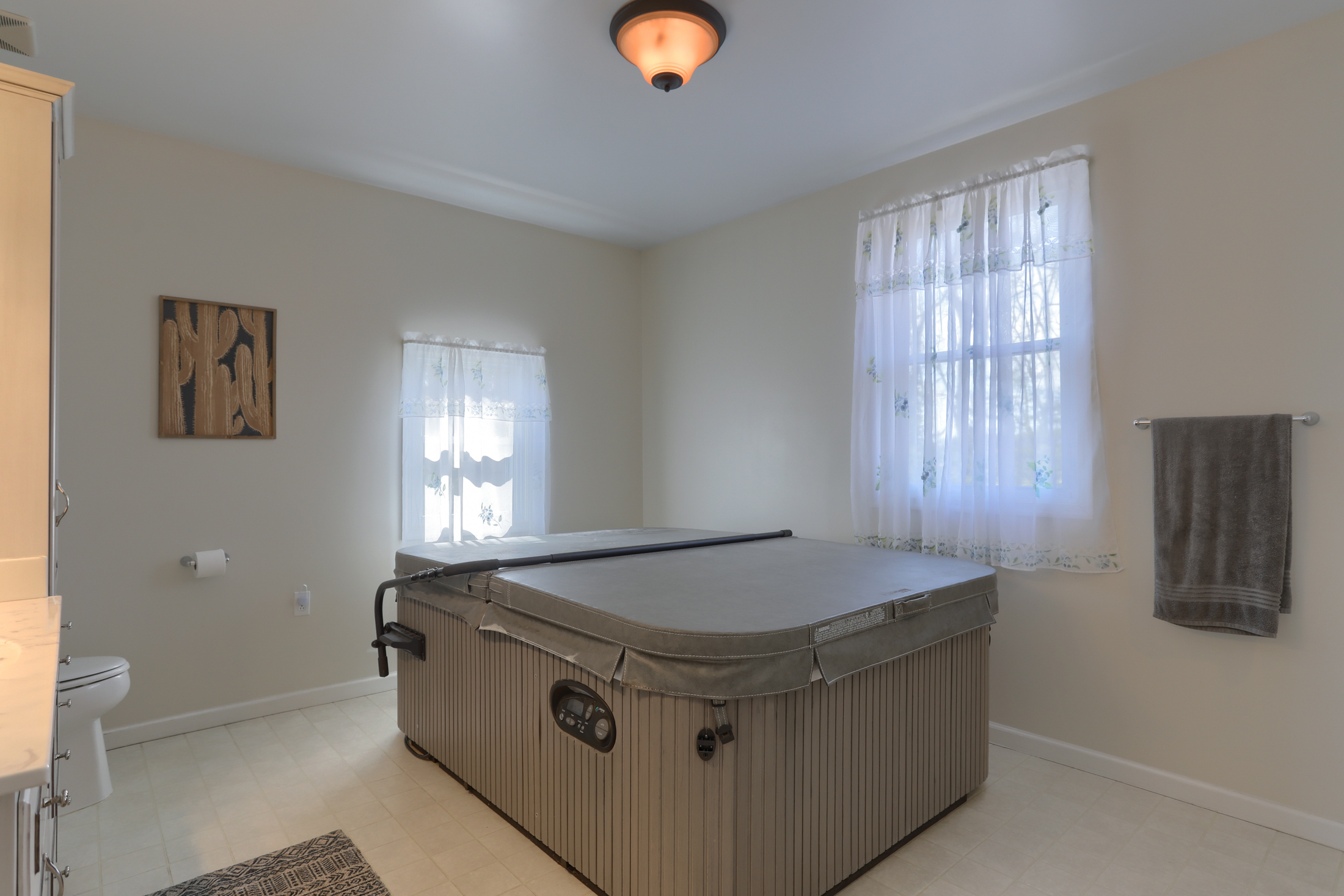 285 Strack Drive - The hot tub stays