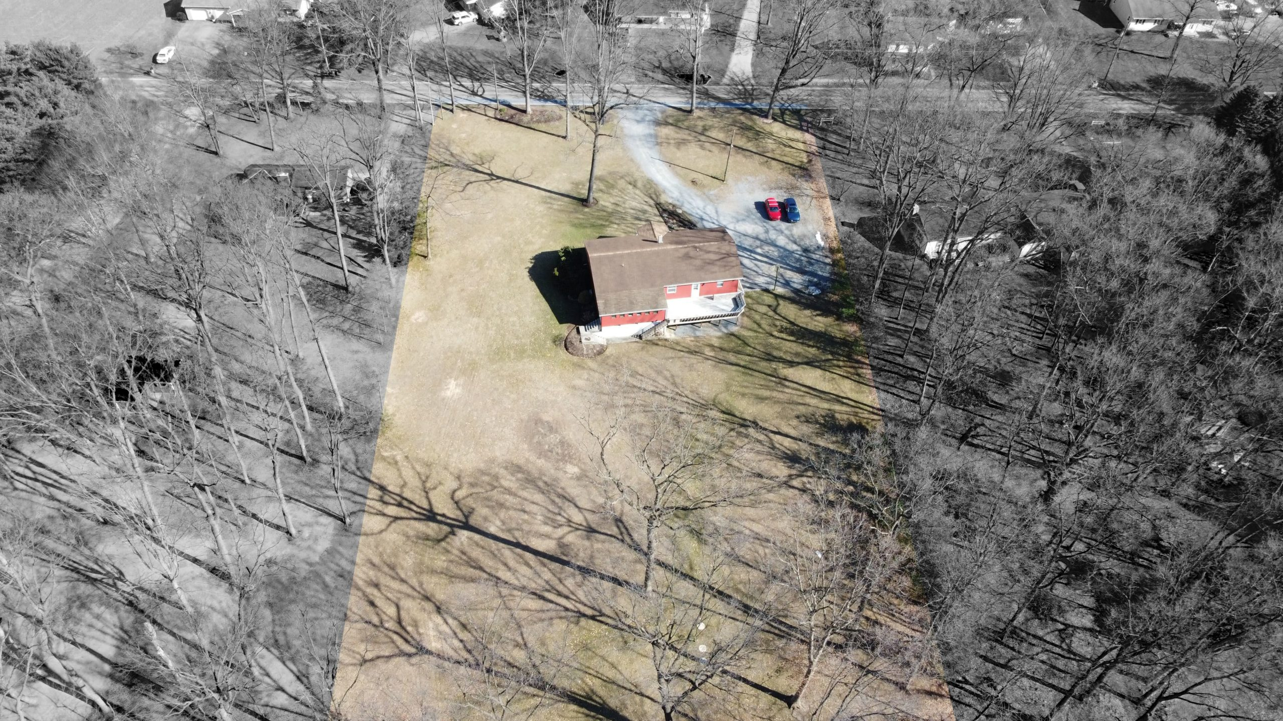 285 Strack Drive - Quiet Wooded Setting Aerial Shot 3