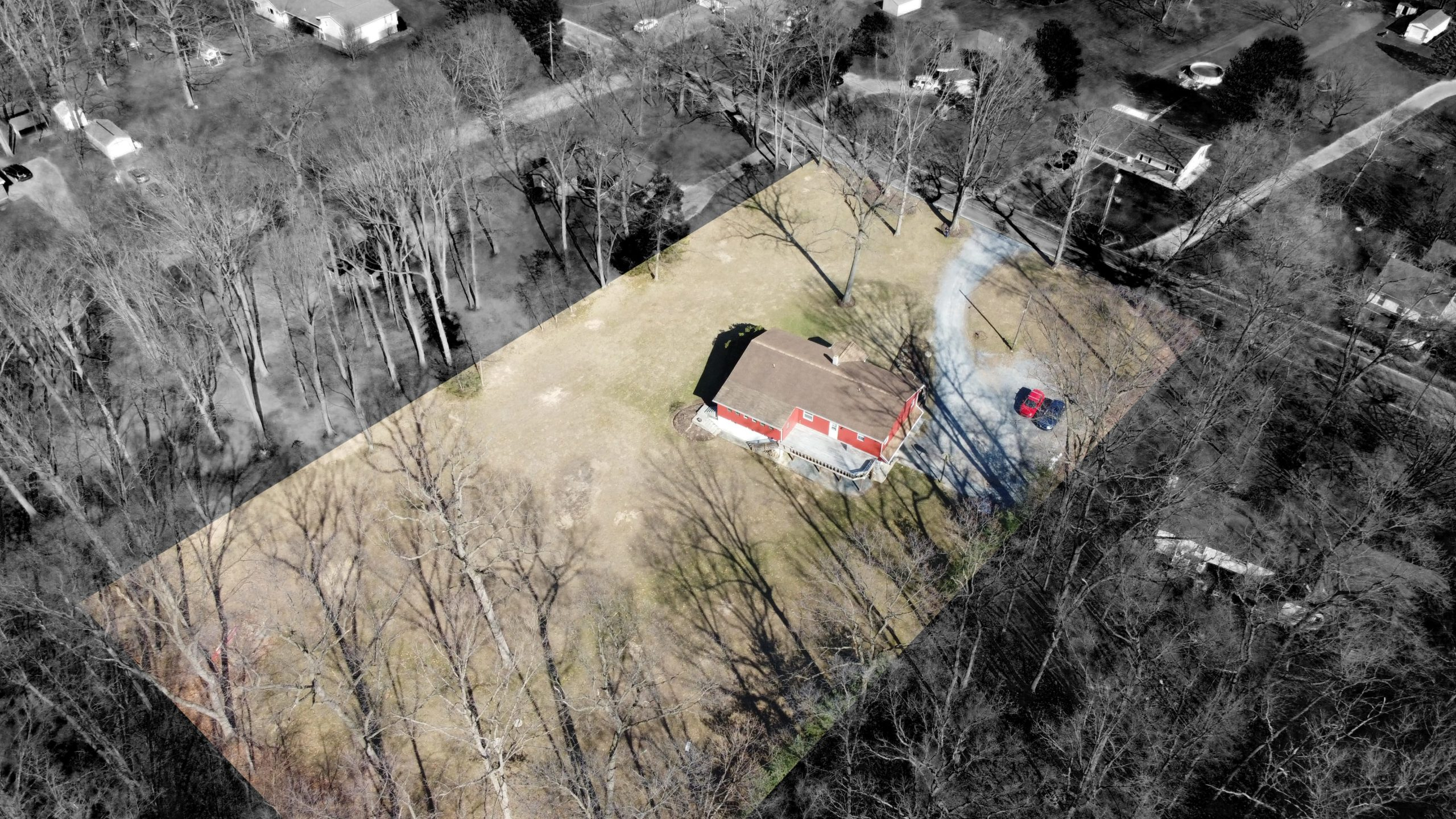 285 Strack Drive - Quiet Wooded Setting Aerial Shot 4