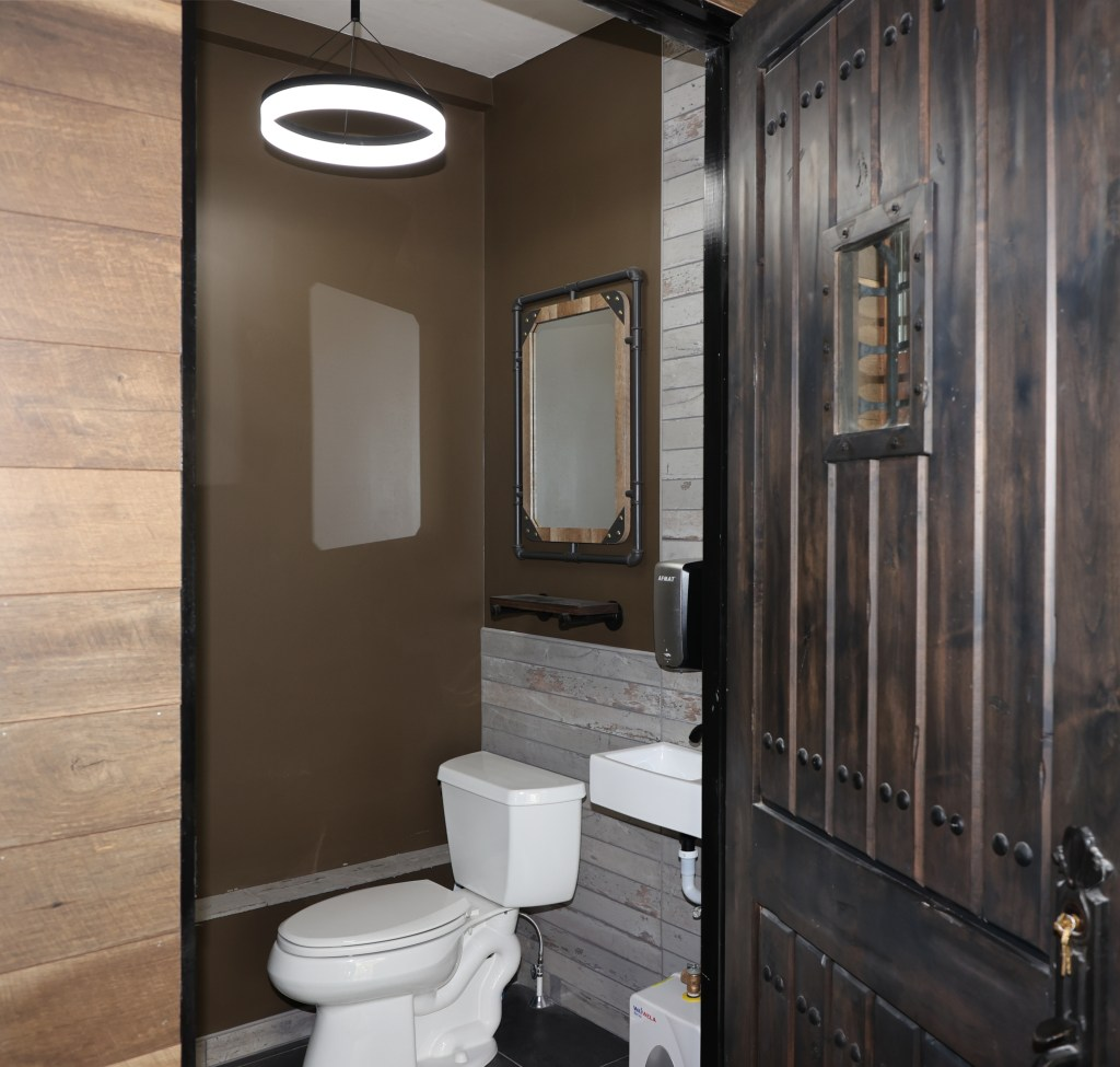 1 Brandthaven Drive - remodeled powder room in stone stately home