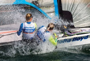 World Championships September 2014, Santander. Our first race together. Overall 13th.